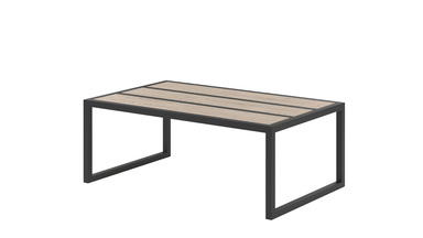Alette banco de acero con tapa de madera