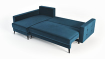 sofá de esquina que se puede abrir